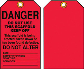 A81TSS101PTP Area Protection Safety Labels & Tags Accuform Signs TSS101PTP