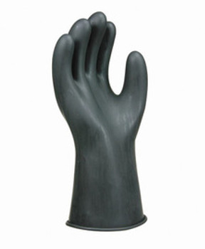 """SALISBURY By Honeywell Size 8 Black 11"""" Type I Natural Rubber Class 00 Low Voltage Electrical Insulating Linesmen's Gloves With Straight Cuff"""
