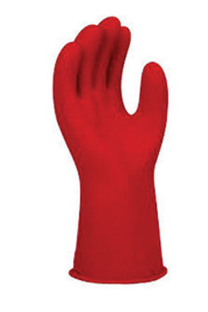 """SALISBURY By Honeywell Size 10 Red 11"""" Type I Natural Rubber Class 00 Low Voltage Electrical Insulating Linesmen's Gloves With Straight Cuff"""