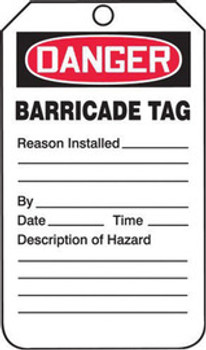 Accuform Signs TAB104PTP Safety Labels & Tags