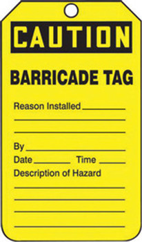 Accuform Signs TAB105PTP Safety Labels & Tags