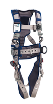 DBI-SALA® Small ExoFit STRATA™ Construction Style Harness With Aluminum Back And Side D-Rings, Tongue Buckle Leg Straps, Waist Pad And Belt