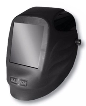 "Radnor® Black 54P Fixed Front Welding Helmet With 5 1/4"" X 4 1/2"" Shade 10 Passive Lens"