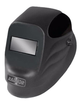 "Radnor® Black 24P Fixed Front Welding Helmet With 2"" X 4 1/4"" Shade 10 Passive Lens"
