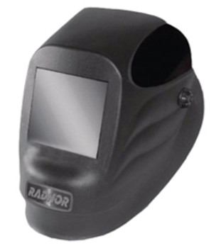 "Radnor® Black 45P Fixed Front Welding Helmet With 4 1/2"" X 5 1/4"" Shade 10 Passive Lens"