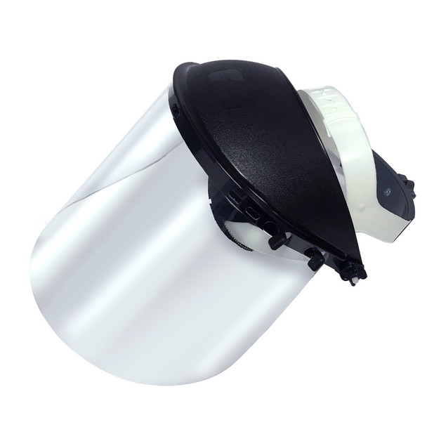 General Purpose Protective Face Shield, Uncoated Acetate Shield With Ratchet Headgear