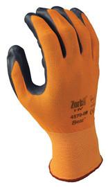 SHOWA BEST 4570-07 Coated Gloves,S,Gray//Orange,PR