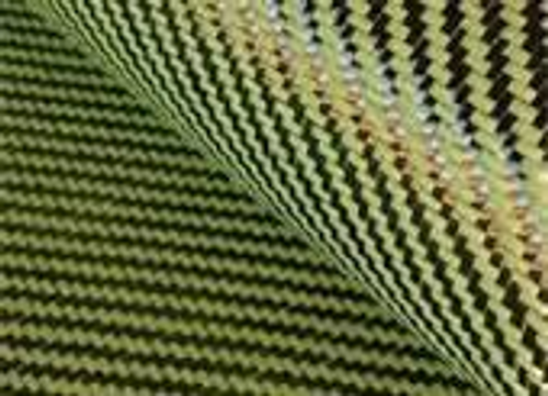"Carbon Kevlar Cloth 5.7oz  50"" - Yard"