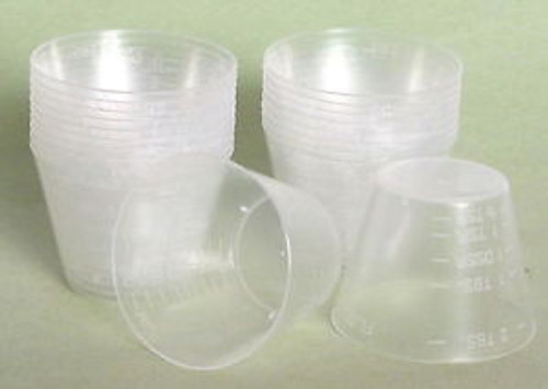 1 oz measuring plastic cups - 100-pack
