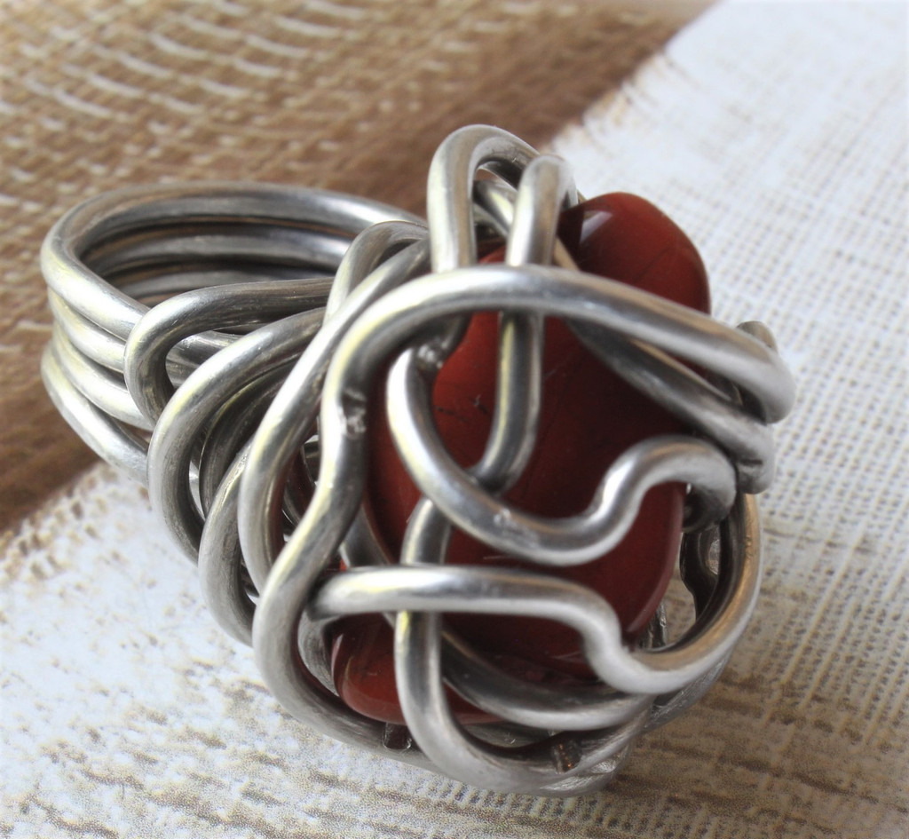 Gabby Wire Wrapped Stone Ring