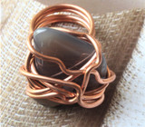Chloe Copper Wire Wrapped Stone Ring