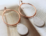 Copper Wire Wrapped Stone Earrings