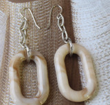 Oval Chained Earrings