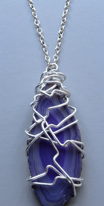 Melia Wire Wrapped Pendant Necklace