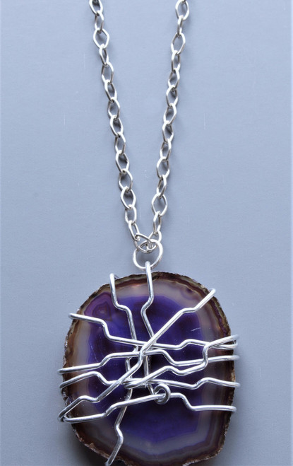 Nakia Wire Wrapped Pendant Necklace