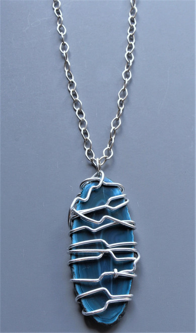 Monica Wire Wrapped Pendant Necklace