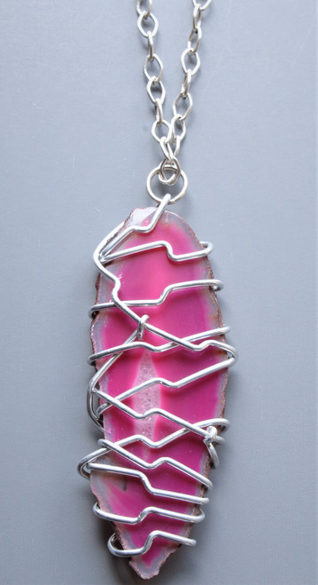 Alivia Wire Wrapped Pendant Necklace
