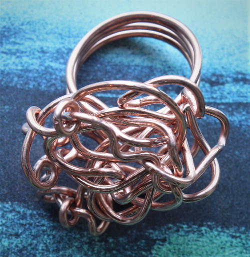 Twisted Wire Copper Ring