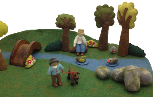 Our very popular play set has loads of goodies in it to create your own little world.