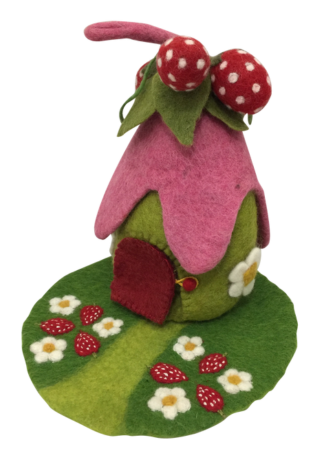Strawberries anyone? A sweet little home for a fairy.