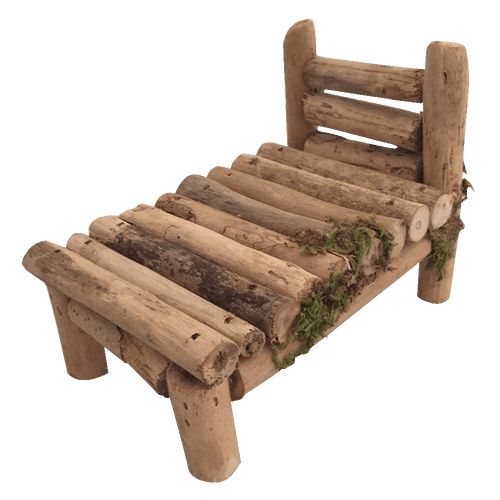 Our Woodland furniture is made from driftwood. It is not suitable for little hands under 5 years as, although the product is well made, it will not stand up to rough handling. Sold in packs of 2 pieces.