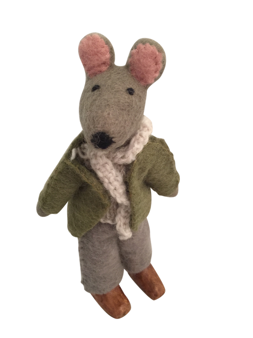 Mr. Ratty from the wind in the willows. He likes to explore even if it's not in his boat on the river.