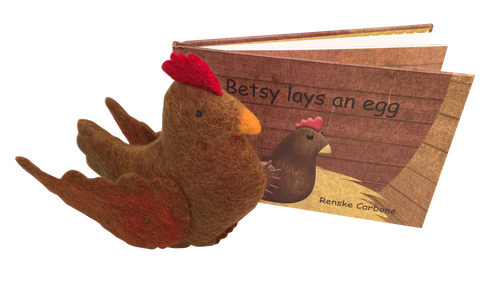 Betsy lays an egg by Renske Carbone