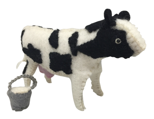 Claire is a cow! Book and toy.
