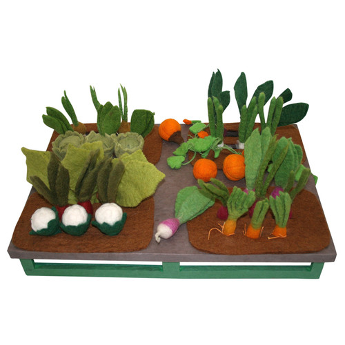 Grow-a-Garden, a fabulous way to learn about vegetables and the fun of 'planting' and 'harvesting' them. Three each of 12 different vegetables come with the set.