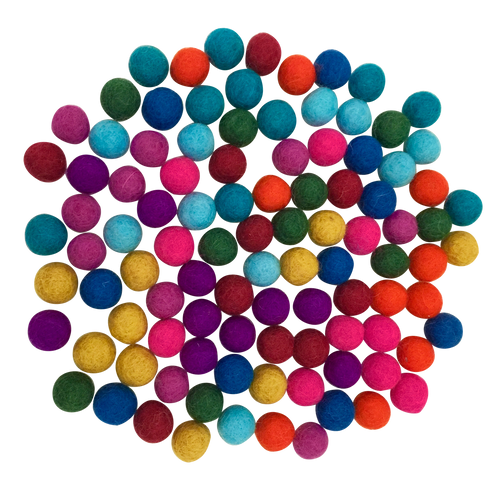 Image indicative of colour. There are 50 x 5cm balls in this set.