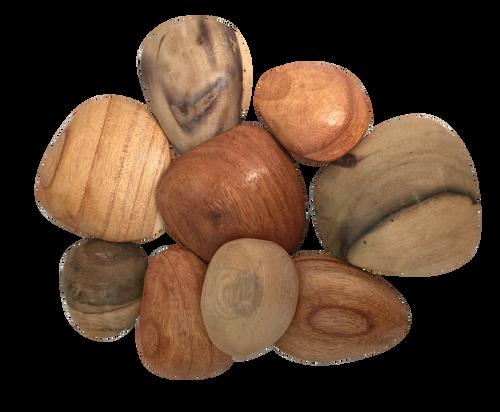 Wood Pebbles/9pc