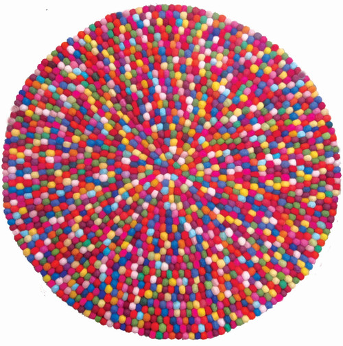Fabulous, multi coloured ball mat.