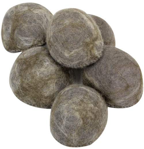 These rocks have a flat bottom and sit well on our mats. There are 6 in a set.