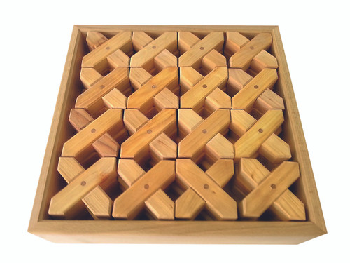 Natural Wooden X-Shapes