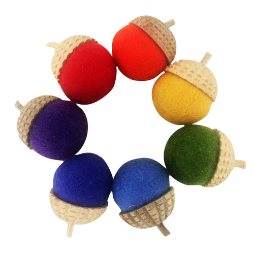Rainbow Acorns/7pc