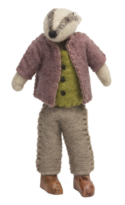 Mr Badger is from the Wind in the Willows story, he's an imposing character and also works well as a doll on his own.