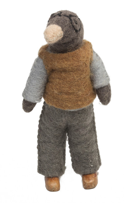 From the Wind in the Willows story but works well as a doll by itself. Mr Mole is so sweet...