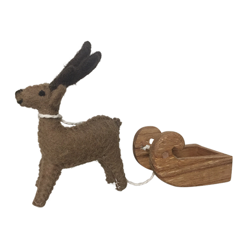 Felt Reindeer and Sleigh
