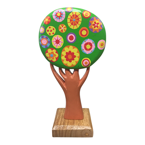 Lollipop Tree, hand painted wood.