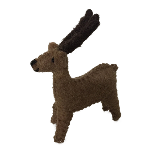 Small Felt reindeer, about 5cm