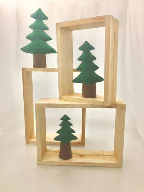 Nested Story Boxes, set of 3 pieces. Made from Alstonia, responsibly harvested wood from renewable resources.