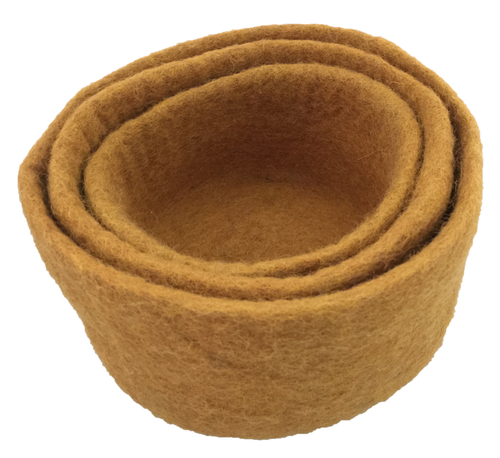 Earth Nested Bowls Mustard