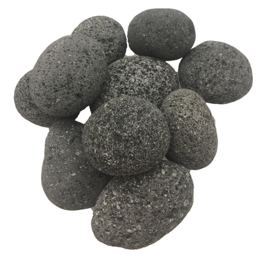 Tumbled until smooth, these natural lave rocks retain their amazing texture.