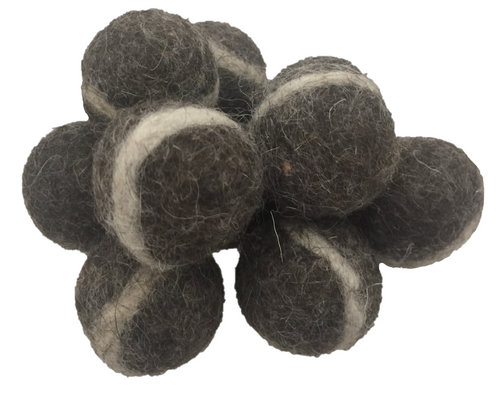 DGrey Felt Rock Balls 3cm/20pc