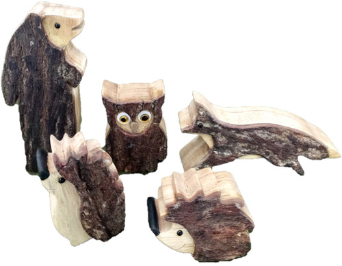 Woodland Animals, small and chunky.
