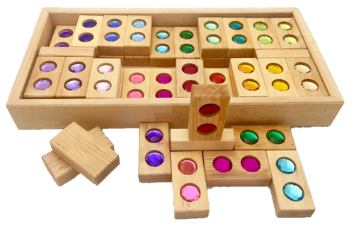 A crowd favourite; this large box full of colourful pieces, 40 to be exact and 5 plain wooden pieces, opens the doors to hours of fun playing and building.