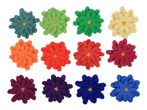 These flowers match in colour with both Goethe Colour Mats (50+150cm).