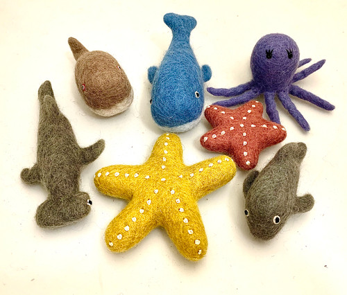 Our sea animals are in a set of 7 pieces.