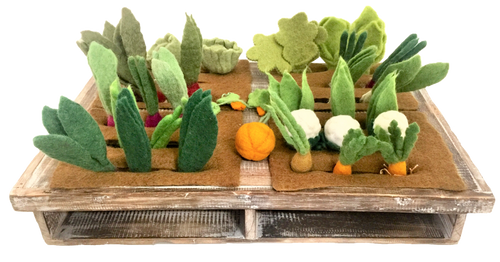 This image is of the full sized garden, this  set has 8 veggies, 3 each (hence the /24)