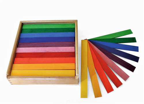 Coloured rods. Box size is 27x25x6cm